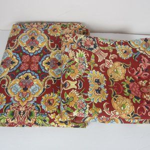 World Market Lot of 2 Lined Curtains Jacobean